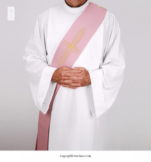 Pink Color Reflexus Stole