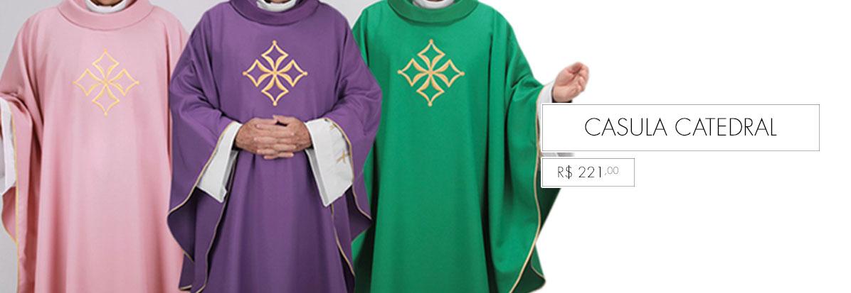 Conjunto de paramentos litúrgicos para Catedral, Paróquia e Capela