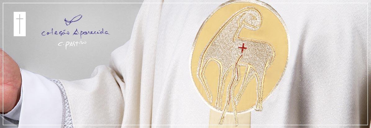 Paramentos litúrgicos personalizados para ordenação. Ordenação sacerdotal, Paramentos para Jubileu da Diocese, Paramentos para festas e missas comemorativas.
